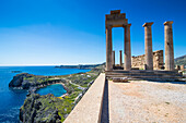 Acropolis of Lindos, Rhodes, Dodecanese Islands, Greek Islands, Greece, Europe
