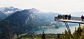 Viewing platform at Harder Kulm, Interlaken, Bernese Oberland, Switzerland