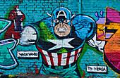 Graffiti at Brick Lane Market, Shoreditch, London, England