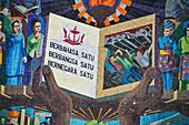 Mosaic mural on the side of a public building, Bandar Seri Begawan, Brunei