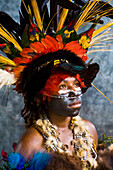 Chimbu performer, Goroka Show, Eastern Highlands