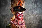 Eastern Highland performer, Goroka Show, Goroka, Eastern Highlands, Papua New Guinea