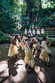 A traditional dance group, Tanna Island, Vanuatu