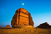 A rock-cut building, Medain Saleh, Saudi Arabia