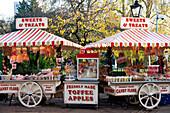 Candy Shop In Hyde Park, Winter Wonderland, London, Uk