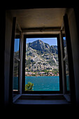 View From Window Of Holiday Cottage Across Kotor Bay, Montenegro.Tif