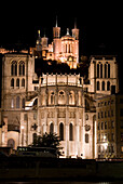 Europe, France, Rhone, Lyons Basilica Fourviere And Cathedral St Jean