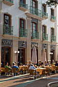Europe, Spain, Andalucia, Costa Del Sol, Nerja, Cafe Outdoors