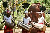 Village musicians, Dakshina Chitra, Tamil Nadu, India
