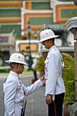 Royal Palace guard inspection, Wat Phra Kaew and the Grand Palace, Bangkok, Thailand