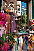 Detail of retro clothing shop, Amsterdam, Holland