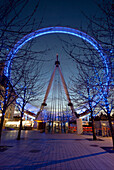 The London Eye at dusk, London, England