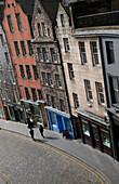Street in the Old Town, Edinburgh, Scotland