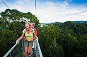 Jungle canopy walk at Ulu Temburong National Park, Brunei