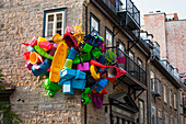 'Art exhibition in Quartier du Petit Champlain called The Unusual Passages; Quebec City, Quebec, Canada'