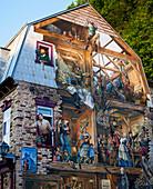 'The Petit Champlain fresco; Quebec City, Quebec, Canada'