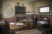 'Old French settlement school room; Trochu, Alberta, Canada'