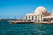 'An old mosque in Venetian harbour; Chania, Crete, Greece'