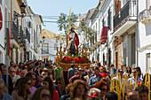 'Domingo de Ramos (Palm Sunday); Semana Santa, El Saucejo, Sevilla, Spain'