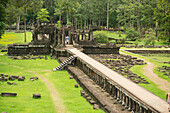 'The Baphuon Temple is just next to Bayon Wat, built in eleventh century by Udayadityavarman II, dedicated to the Hindu God Shiva, Angkor; Siem Reap, Cambodia'