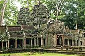 'Ta Prohm, impressive temple in Angkor area built in the twelfth century; Siem Reap, Cambodia'