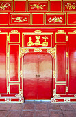 'Red doors in the Imperial City; Hue, Vietnam'