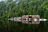 'Resort on shore of Hippa Island; Queen Charlotte Islands, British Columbia, Canada'