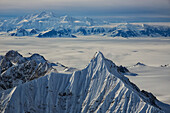 'Aerial view of the mountains and icefields in Kluane National Park; Yukon, Canada'