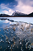 Vermilion Lakes And Mount Rundle In Winter, Banff National Park, Alberta