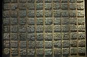 Mayan Glyphs, Alberto Ruz Lhuillier Site Museum, Palenque, Chiapas, Mexico