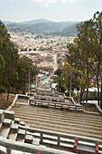 Stairs Leading To The Guadalupe Church, San Cristobal De Las Casas, Chiapas, Mexico