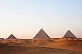 Pyramids Of Giza At Sunset, Al Jizah, Egypt