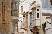 Street Scene With Enclosed Balconies, Victoria (Rabat), Gozo Island, Malta