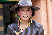 'Portrait of a young Tibetan woman; Dege, Sichuan, China'