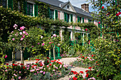 the garden of the clos normand and the impressionist painter claude monet's house, giverney, eure (27), normandy, france
