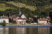 village of le petit andely on the banks of the seine, les andelys, eure (27), normandy, france