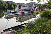cruise boat on the seine, 'guillaume le conquerant' (william the conqueror), poses, eure (27), normandy, france