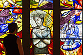 zagari, 'ecce homo' for the church saint-lubin-des-joncherets, exhibition of french contemporary stained glass 'les peintres et le vitrail', international center for stained glass, chartres, eure-et-loir (28), france