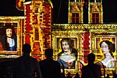 sound and light show 'madame de maintenon ou l'ombre du soleil' evoking the story of the secret wife of king louis xiv, scenography by xavier de richemond, chateau de maintenon, eure-et-loir (28), france