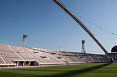 field and bleachers of the khalifa stadium, one of the stadiums that will host the football (soccer) world cup in 2022, aspire zone, doha, qatar, persian gulf, middle east