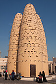 pigeon towers in the katara cultural village, doha, qatar, persian gulf, middle east