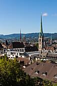 vue generale sur zurich, canton de zurich, suisse