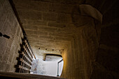 the constance towerÆs portcullis allowed for protected access to the guardsÆ room and the dungeon, aigues-mortes, gard, camargue, france