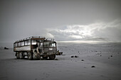 4x4 jeep for an expedition on the langjokull glacier, east central iceland, europe