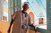 photographer oumar ly, former fort transformed into a regional museum, podor, senegal, west africa