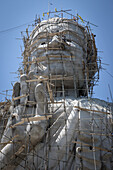 a big buddha under construction, wat keaw prasert, pathio, province of chumphon, thailand, asia