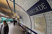 concorde metro station, paris, ile-de-france (75), france
