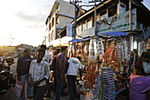 Decoration shop in Aberdeen Bazaar, near Clock Tower, center, capital of Port Blair, South Andaman, Andaman Islands, India