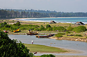 Fishermen beach of Hout Bay, beach and main town of Little Andaman, Andaman Islands, Union Territory, India