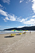 Praia do Guaiuba, beach to the west of the city, Guaruja, Costa Verde, Sao Paulo, Brazil